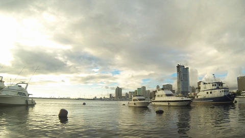 Manila Bay Timelapse stock footage