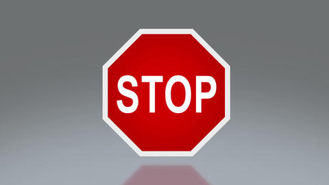 road signage stop Animation