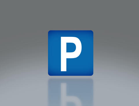 road sign parking 4 K Animation