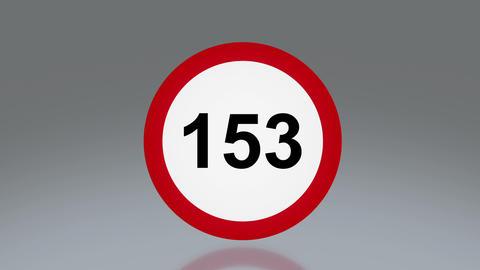 road sign speeding Animation