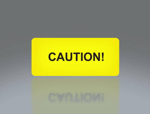Yellow Caution signage 4 K Animation