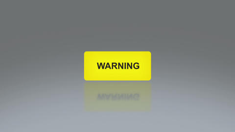 Yellow warning signage Stock Video Footage