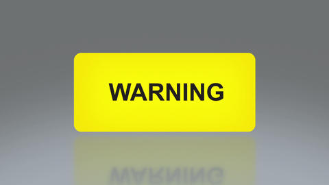 Yellow Warning Signage stock footage