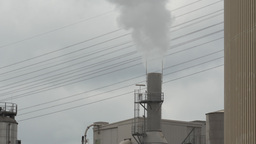 Factory Pipe Polluting Environment Stock Video Footage