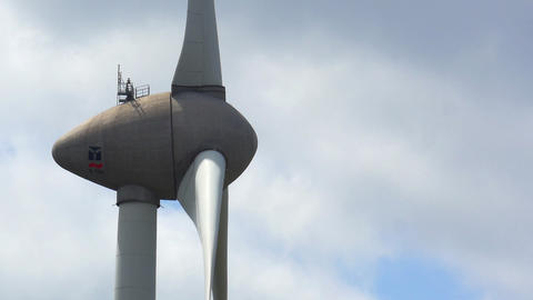 Wind Turbine Close Footage