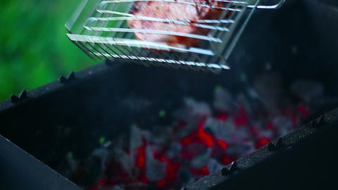 Grilled fish Stock Video Footage
