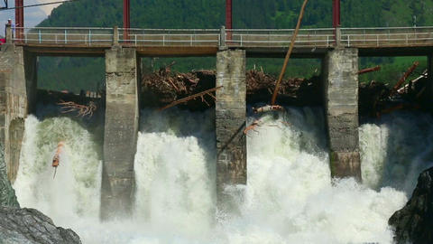Chemal dam Stock Video Footage