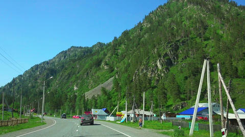Road To Altai Mountains stock footage