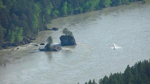 Katun river Stock Video Footage