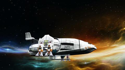 宇宙船 CG動画素材