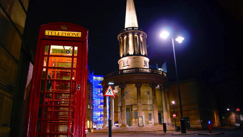 Time lapse in London city,view to the All Souls Live Action