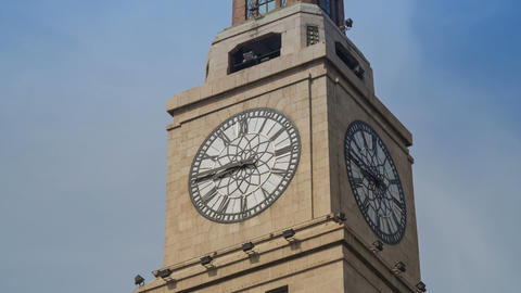 Shanghai Customs House watch timelapse Stock Video Footage