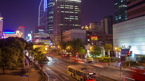 Shanghai night traffic timelapse 2 Footage