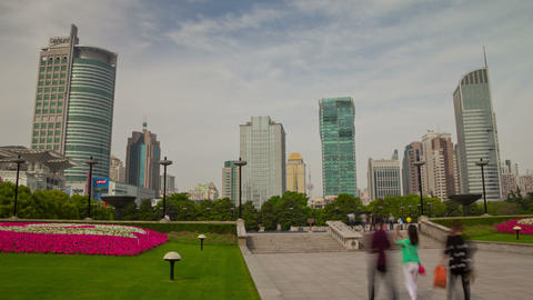 Shanghai park day hyperlapse Footage