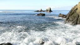 Rugged ocean shoreline Stock Video Footage