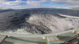 View of fast speedboat on ocean Stock Video Footage
