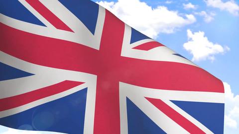 Waving Flag of United Kingdom Animation