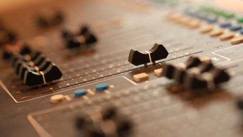 mixing board in recording studio Live Action