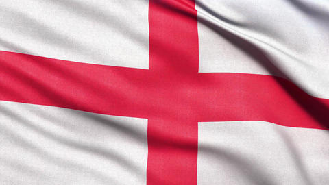 4K Flag of England seamless loop Ultra-HD Stock Video Footage