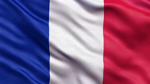 Flag of France 4K seamless loop Stock Video Footage