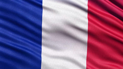 Flag of France 4K seamless loop Animation