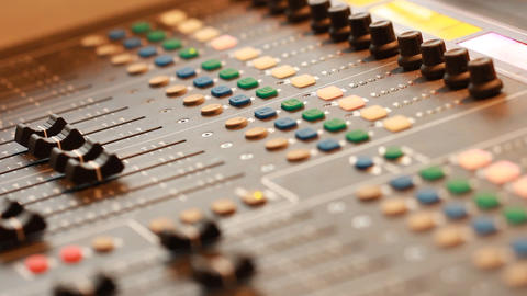 mixing board in recording studio Stock Video Footage