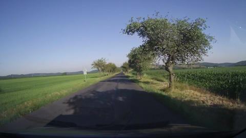 Driving the country road Footage