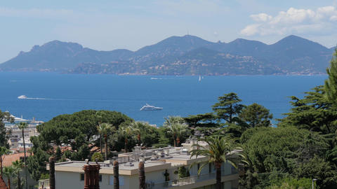 French riviera, cannes, seascape Footage