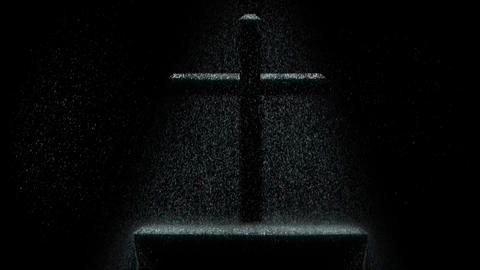 Cross in the rain CG動画素材
