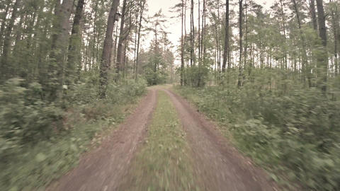 Racing down country road Stock Video Footage