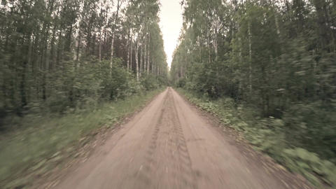 Racing Down Country Road stock footage