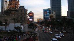 Las Vegas 4 Strip Sunset Time-Lapse Stock Video Footage