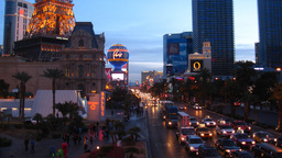Las Vegas 4 Strip Sunset Time-Lapse stock footage