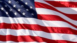 American Flag Slow Waving Footage
