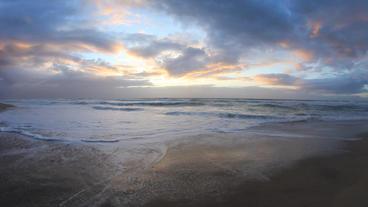 Monterey Beach Sunset 4 Footage