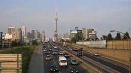 Toronto Gardiner Expressway Time-Lapse Stock Video Footage