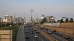 Toronto Gardiner Expressway Time-Lapse stock footage