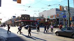Chinatown Toronto Timelapse 2a Tilt Stock Video Footage