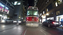 Toronto Streetcar Follow Timelapse Stock Video Footage