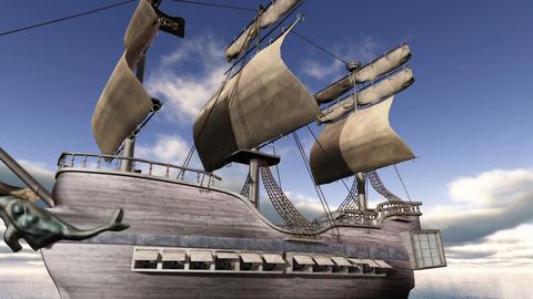 帆船 CG動画素材