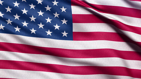 USA flag seamless loop 4K Stock Video Footage