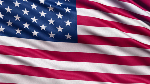 USA flag seamless loop 4K Animation
