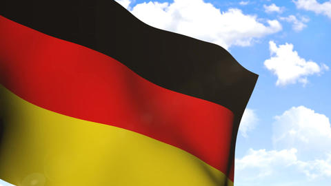 Wavng Flag Of Germany stock footage