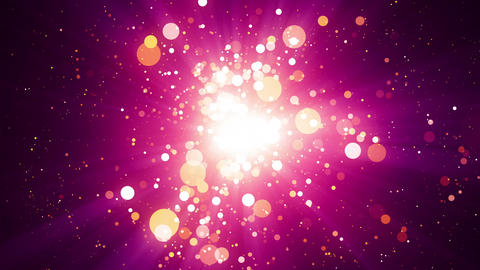 Pink Particles Light Center Background Animation