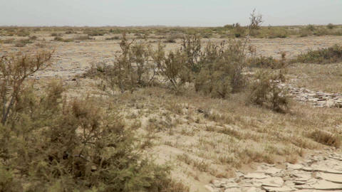 Barren Village Land stock footage
