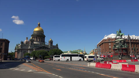 St. isaac's cathedral in St. Petersburg. 4K Stock Video Footage
