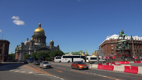 St. isaac's cathedral in St. Petersburg. 4K Footage