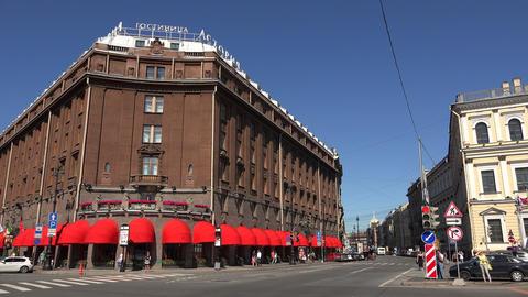 The Astoria Hotel. Saint-Petersburg. 4K stock footage