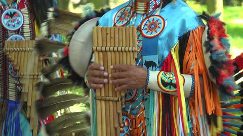 Indian street musicians. 4K Stock Video Footage