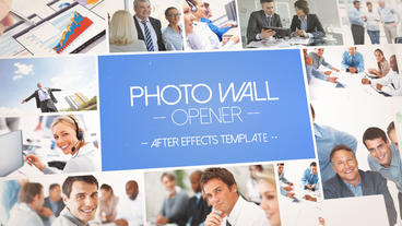 Photo Wall Opener - After Effects Template After Effectsテンプレート